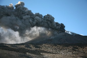 Etna Ash Eruption 2006 SE crater