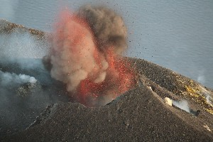 Ash-rich Strombolian Eruption