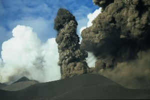 Etna Ash Eruption 2002