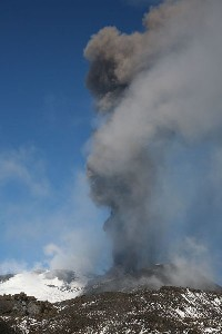 Etna Ash Eruption SE crater 2006