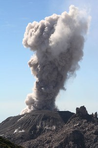 Santiaguito Eruption Ash Cloud