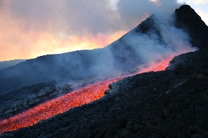 Etna Hornito Lava Flows 2006