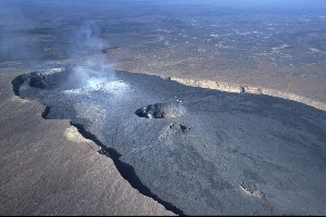 Erta Ale Shield Volcano Aerial View