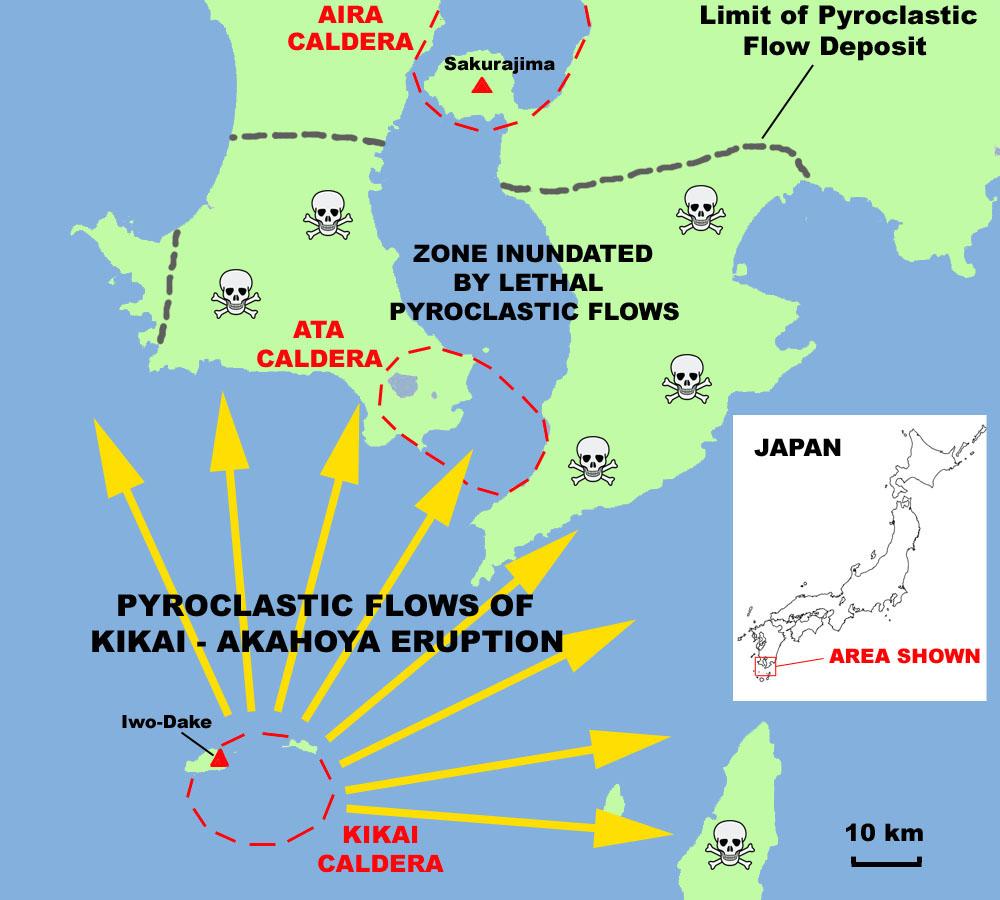 Kikai Volcano Iwojima - Japan volcano map