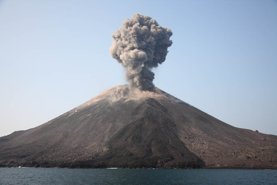 Image result for The crater of Mount Krakatau