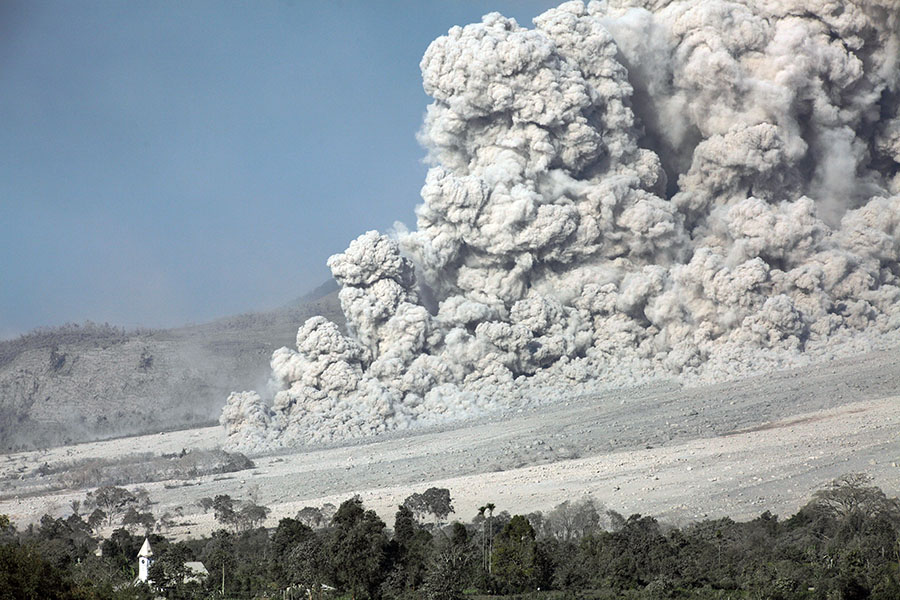 Pyroclastic flow, Sinabung volcano
